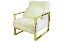 Celia Fur Accent Chair