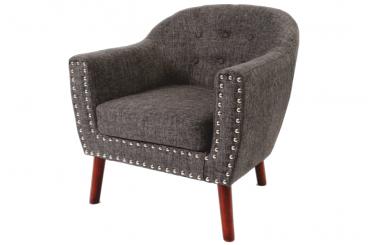 Rose: Grey-Linen Accent Chair