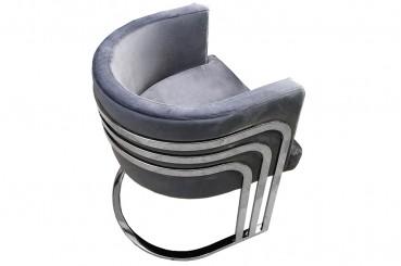 Silver Derby Accent Chair