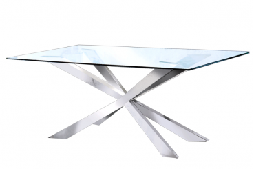 Merlin Silver dining Table